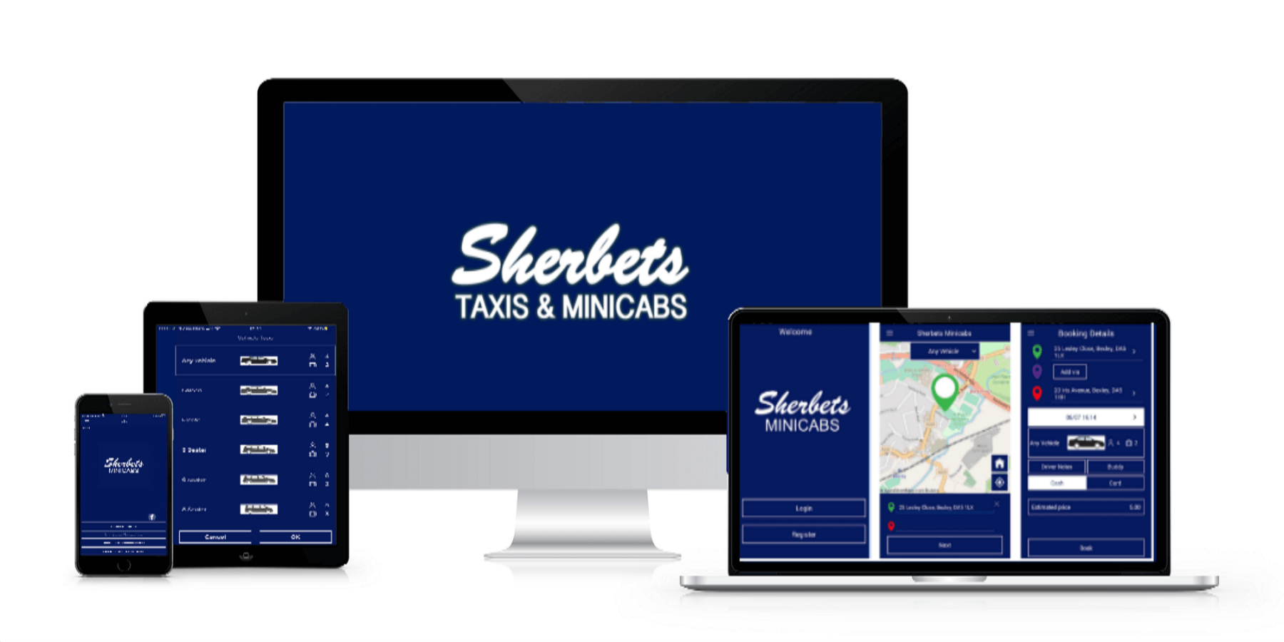 Download Our Taxi App - Sherbets Mini Cabs Near Me